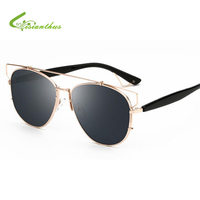 Fashion Classic TECHNOLOGIC Cat Eye Sunglasses Women Luxury Brand Metal Frame Vintage Sun Glasses Female Male