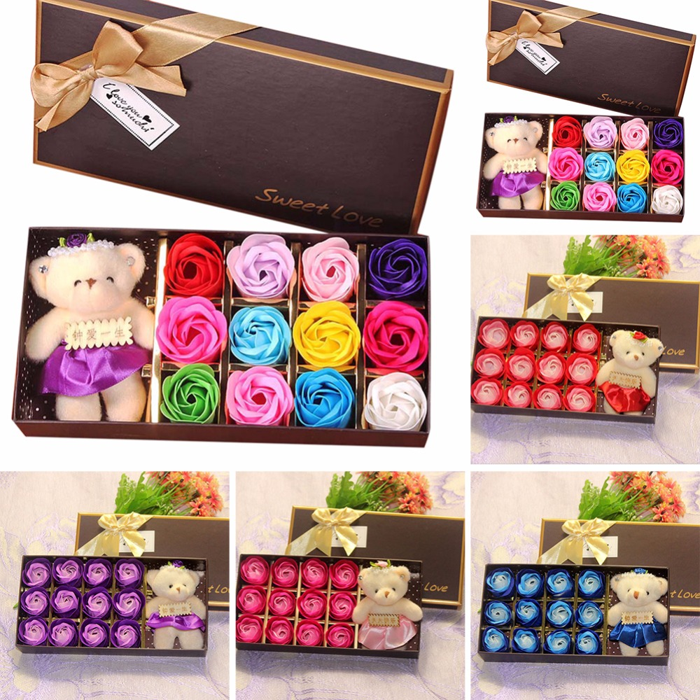 Simulation-Flower Home-Decoration-Supply Gift Practical Sweet Creative Lovers Soap Fragrance