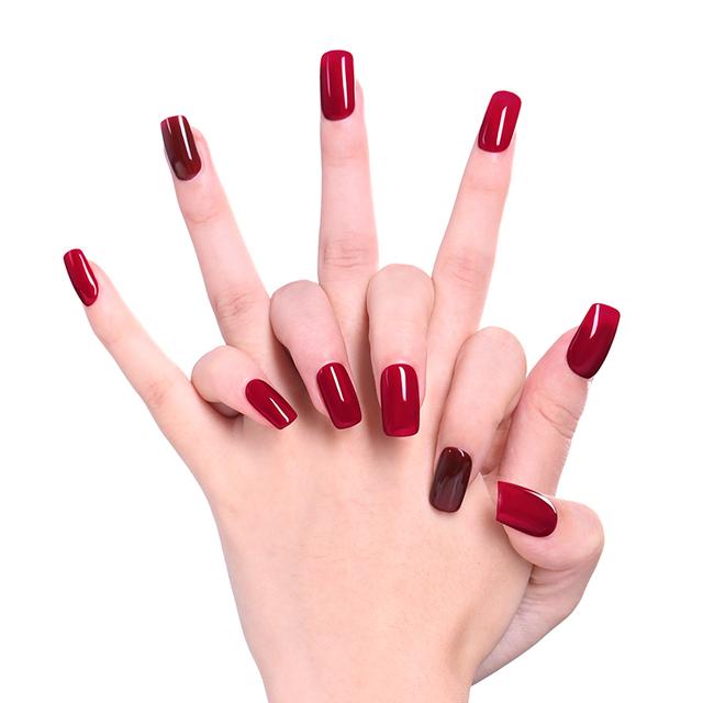 LILYCUTE Red Series Glitter UV Nails Gel