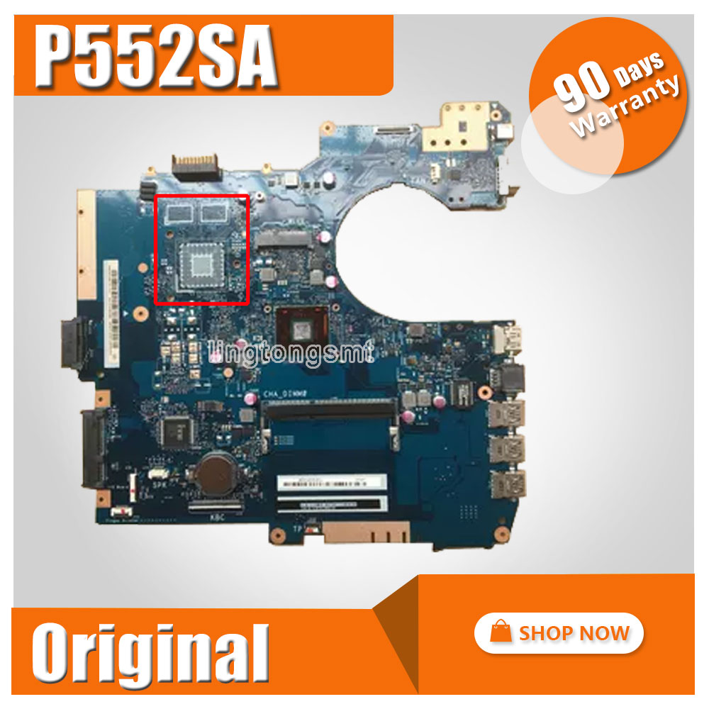 SAMXINNO For ASUS P552S P552SA PRO552SJ Laptop motherboard mainboard full tested before shipping p552sj for asus p552s p552sj pro552sj laptop motherboard rev 2 0 motherboard 100% tested motherboard