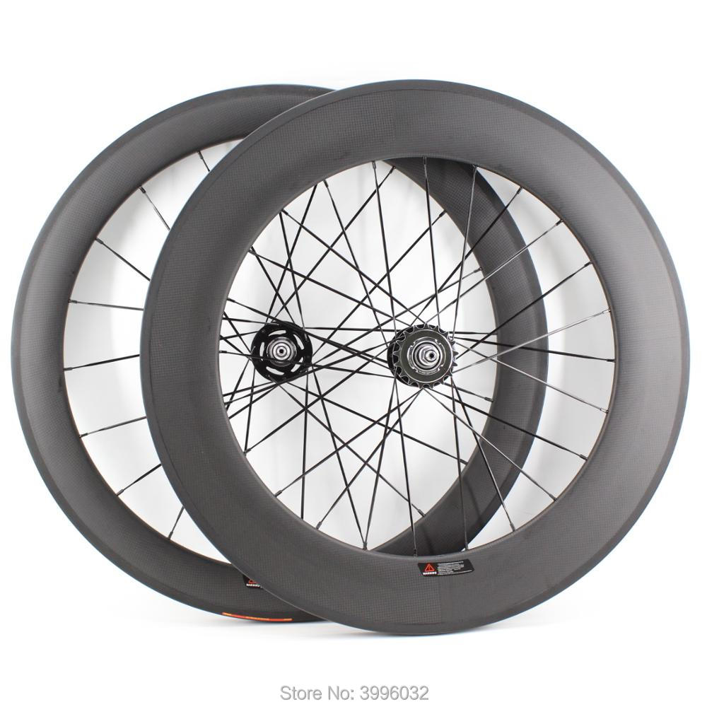 New 700C 60mm+88mm Track Fixed gear bike matt 3K 12K UD full carbon fibre bicycle wheelset carbon clincher tubular <font><b>rim</b></font> Free ship image