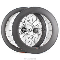 New 700C 60mm+88mm Track Fixed gear bike matt 3K 12K UD full carbon fibre bicycle wheelset carbon clincher tubular rim Free ship