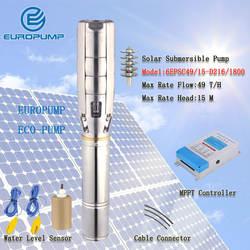 """Еуропумп модель (6EPSC49/15-D216/1800) 6 """"DC бесщеточный нержавеющая сталь Солнечные Погружные глубинные воды насосы солнечный насос"""