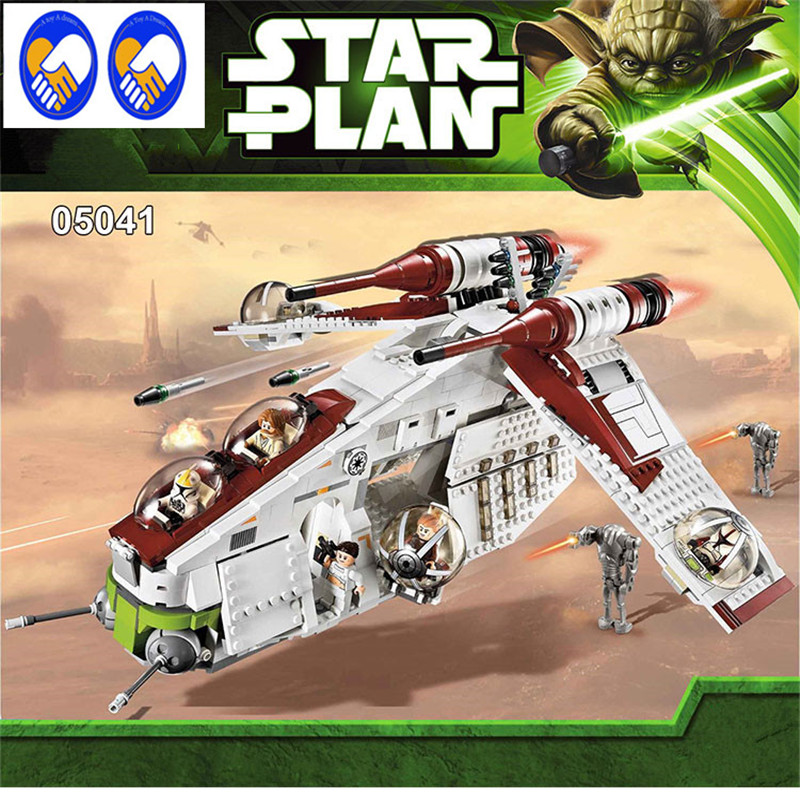 Фотография A Toy A Dream Lepin 05041 Star War Rogue One Series The The Republic Gunship Set Figures Educational Building Blocks Toys 75021