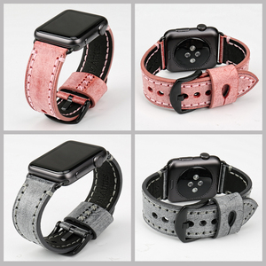 Image 5 - MAIKES Vintage Genuine Leather Watch Strap Watchband For Apple Watch Bands 44mm 40mm 42mm 38mm Series 6 5 4 3 2 iWatch Bracelet