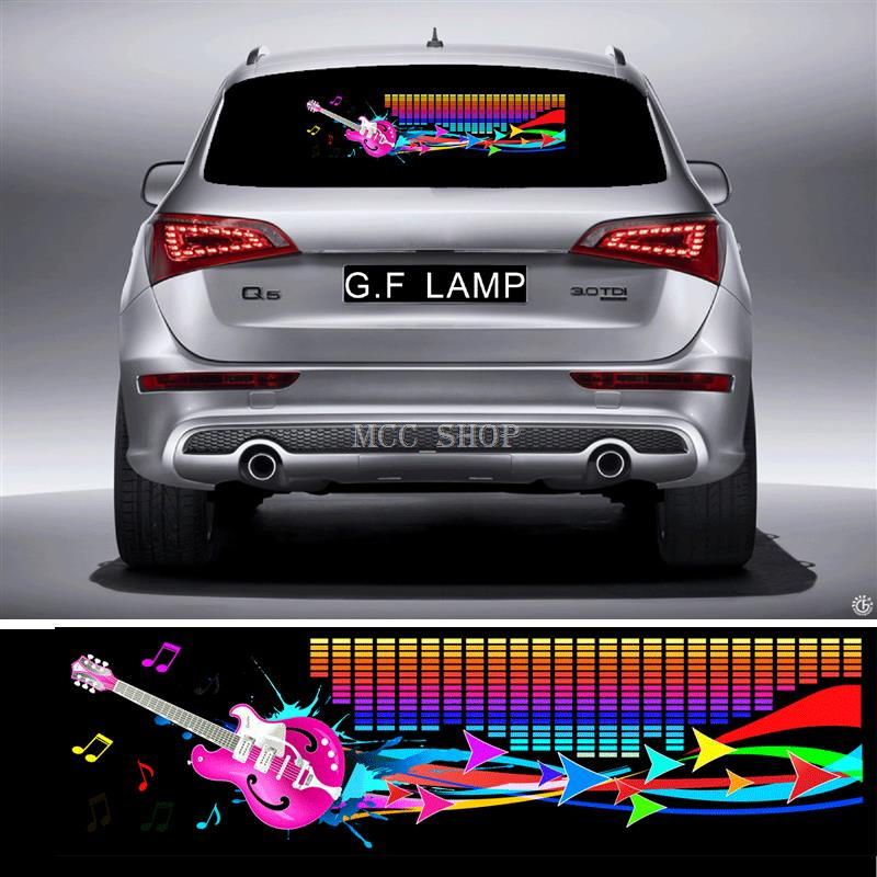 90*25cm Streamer guitar Flash Car Sticker Music Rhythm LED EL Sheet Light Lamp Sound Music Activated Equalizer бас гитару warwick streamer