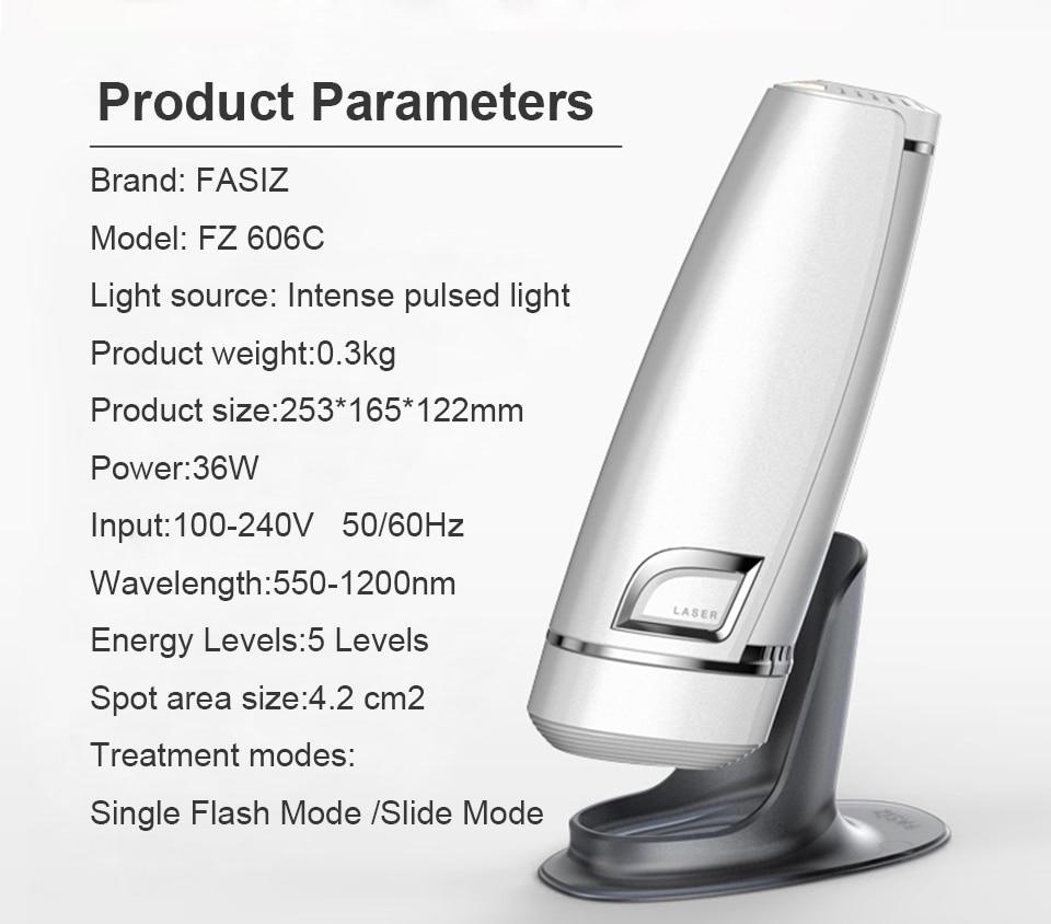 La maggior parte dei Popolari Tecnologie di Luce Pulsata Intensa (IPL) Fasiz 3 in 1 Photoepilator IPL Depilator Indolore Permanente di Rimozione Dei Capelli - 6