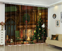 Modern Luxury Christmas Decorations 3D Blackout Window Curtains For Kids Bedding Room Living Room Hotel Drapes