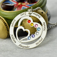 Romantic Heart Shaped Personalized Silver Pendant Necklace