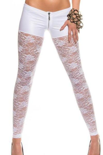 Summer Women's Metallic Sexy Lace Leggings