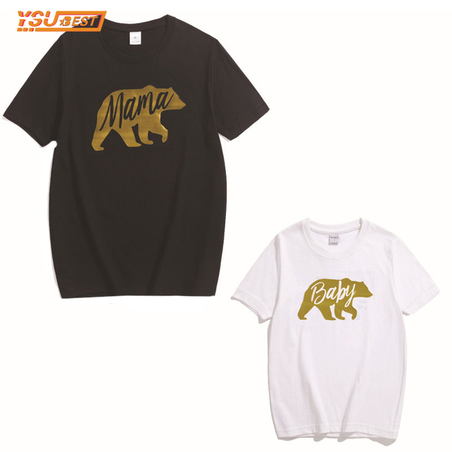 Merveilleux 2017 Summer Cartoon Cute Bear Print Family Look Family Matching Clothing  Mother Daughter Father Son T