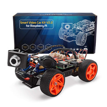 SunFounder App Remote Controlled Robot For Raspberry Pi Model 3B+ B 2B Smart Video Car Kit V2.0 RC Car (RPi Not included)