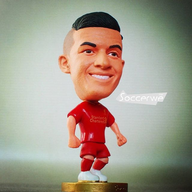 2015-16 Season Soccer Doll 6.5*3.5 cm Resin Action LIV 10 Coutinho Figure Mini Gift