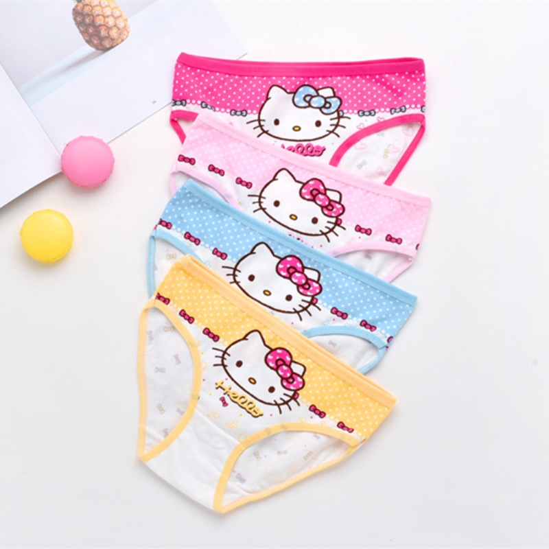 2Pcs/Lot Cotton Panties Girls Kids Short Briefs Children Underwear Child Cartoon Shorts Underpants Girl Panties