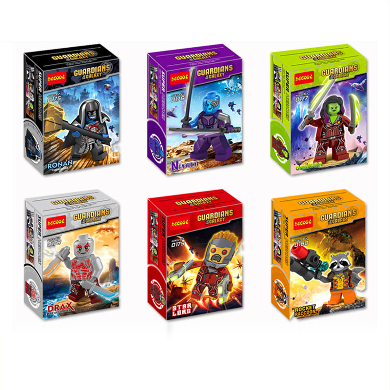 Marvel SuperHeroes minifigure Guardians of the Galaxy 2 Star-Lord Rocket mini figure Building Blocks Bricks FIT for legos Toys