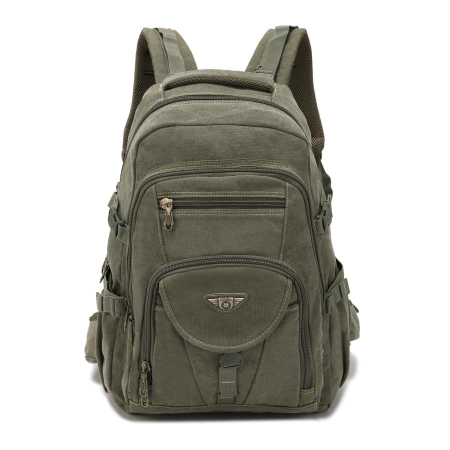 AERLIS Design Men Backpacks Canvas College Laptop Bag