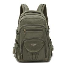 AERLIS mochila de lona de diseño militar para hombre, bolso de lona para ordenador portátil, para exteriores, senderismo, adolescentes, viaje, grande, 9118