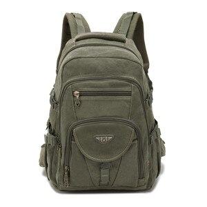 Image 1 - AERLIS projekt mężczyźni plecaki płótno College torba na Laptop odkryty piesze wycieczki nastolatek wojskowy podróży duża Cmping plecak mężczyzna 9118