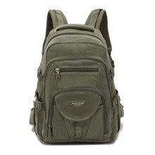Aerlis design dos homens mochilas lona faculdade saco do portátil caminhadas ao ar livre adolescente militar viagem grande cmping mochila masculino 9118