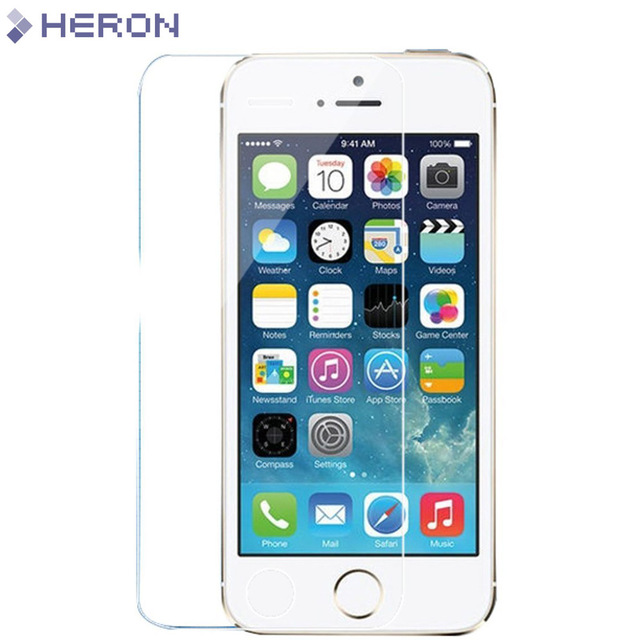 0.3mm Tempered Glass Film for iPhone 5 5s 9H Hard 2.5D Screen Protector for i6 6s 6 plus SE 4 4S i7 7 plus with Clean Tools
