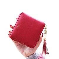 5 TEXU Fashion Design Brand Women Wallets PU Leather Tassel Wallet Ladies Bronzing Clutches Card Holder