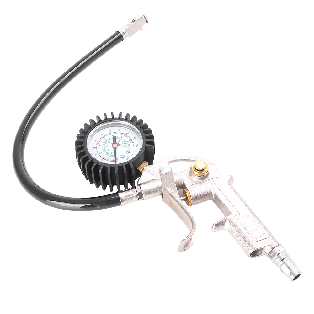 220 PSI Car Tire Inflator Auto Tyre Inflation Gun Air Manometer Pneumatic Pistol For Pumping Wheels Gauge Tester