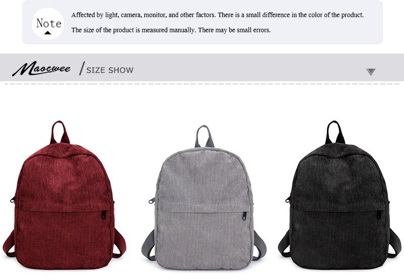 HTB1HAvuXdfvK1RjSspoq6zfNpXaT Women Backpack Youth Small Solid Casual Backpacks Students School Bag Teenage Girls Vintage Laptop Bags Rucksack Mochila