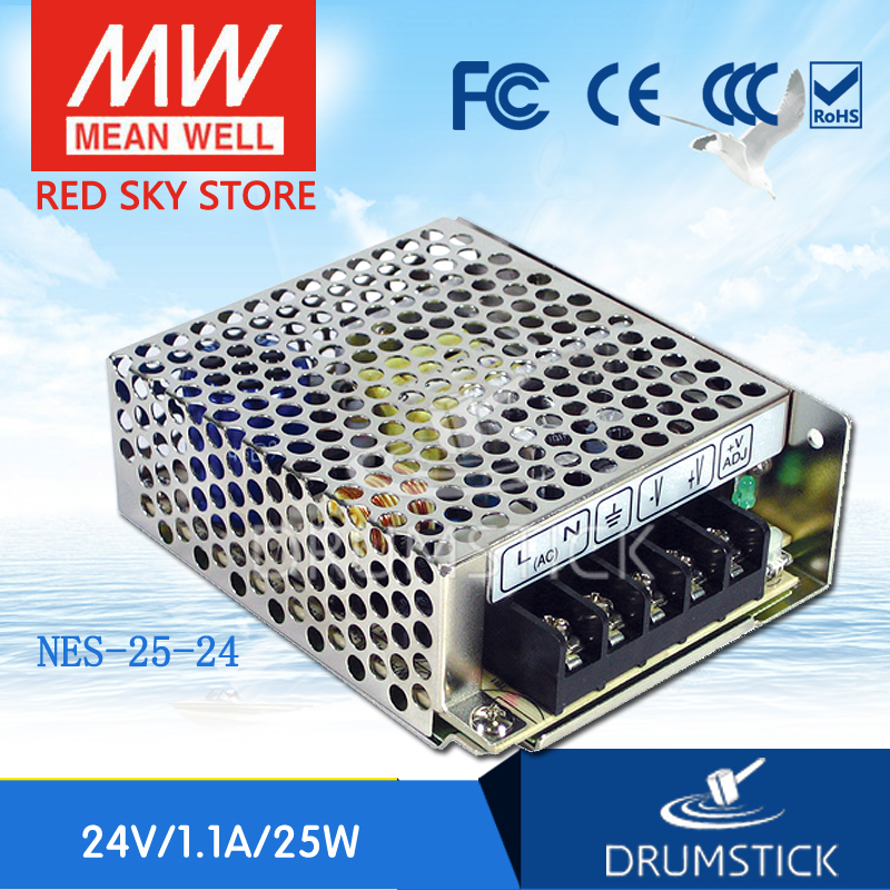 ФОТО Redsky [free-delivery 5Pcs] MEAN WELL original NES-25-24 24V 1.1A meanwell NES-25 26.4W Single Output Switching Power Supply