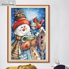 Алмазная 5d картина «сделай сам» Рождественский Снеговик алмазная