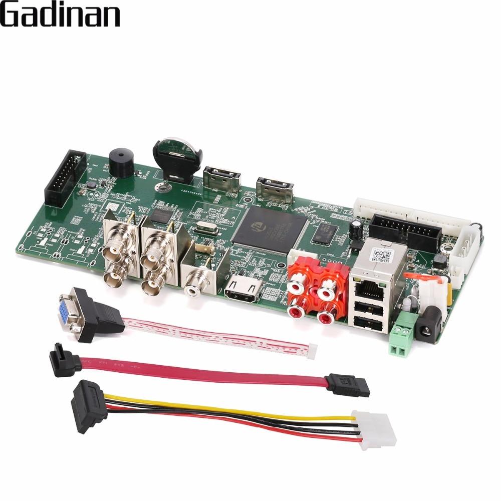 GADINAN AHD 4MP 4 Channel Main PCB AHD DVR Recorder Video Recorder 4 Channel 4MP AHD Board XVR For 3MP 4MP AHD Camera ahd