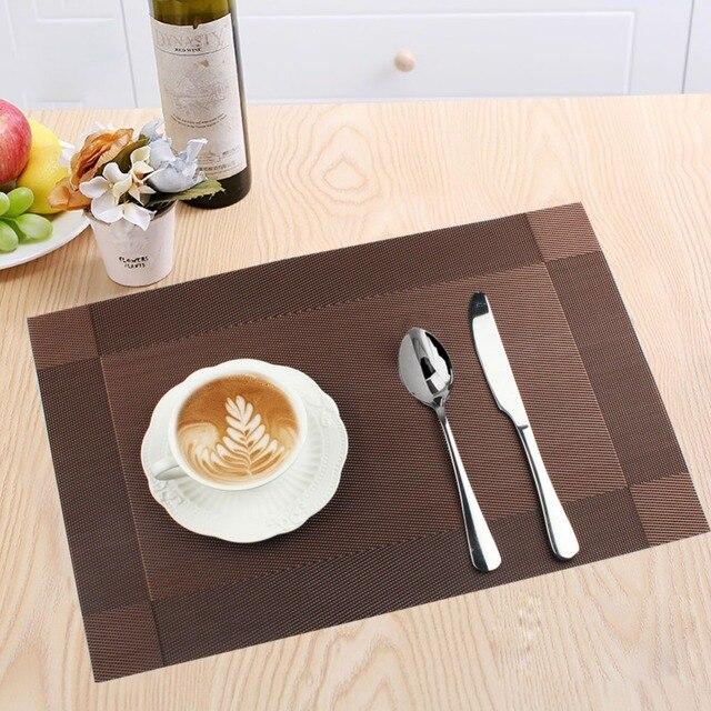 PVC Tischset Wasserdicht Esstisch Matte Für Disc Schüssel Setzern Pad  Tischtuch Pad Rutschfeste Pad Hause Tisch