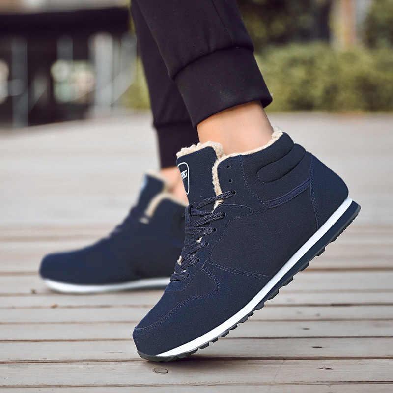 2018 зимняя обувь с высоким берцем Для мужчин женщин теннисные туфли Утепленная