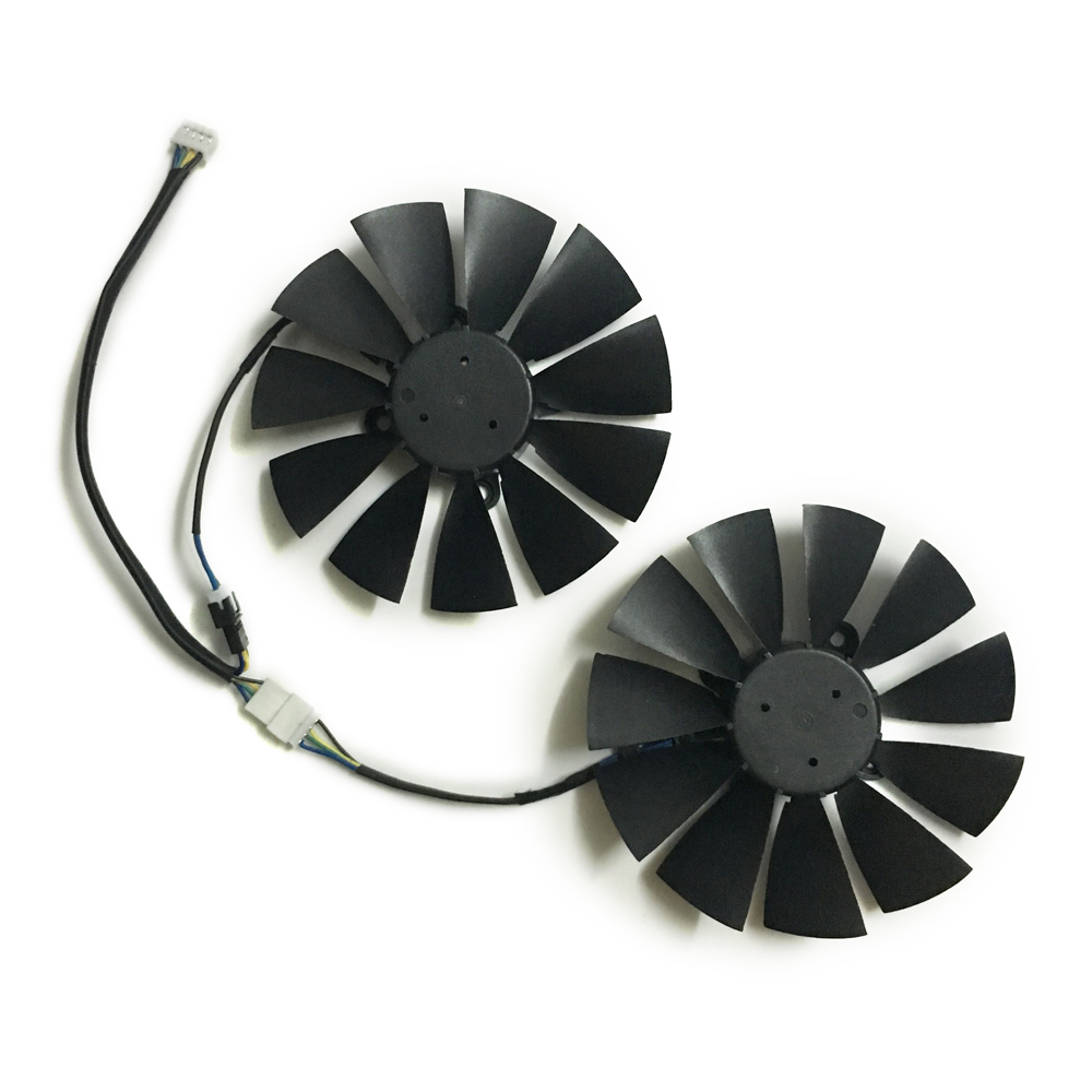 2pcs GPU RX470 GTX1080TI VGA cooler fans ROG-POSEIDON-GTX1080TI graphics card fan for ASUS ROG STRIX RX 470 Video cards cooling 2pcs lot computer radiator cooler fans rx470 video card cooling fan for msi rx570 rx 470 gaming 8g gpu graphics card cooling