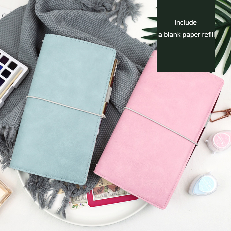 Jamie Notes Flipped Leather Traveler's Notebook Bandaged Journals And Notebooks Midori Refillable Planner School Gift Stationery