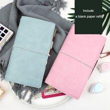 Jamie notlar saygısız deri Travelers Notebook bandaj dergiler ve defterler Midori doldurulabilir planlayıcısı okul hediye kırtasiye