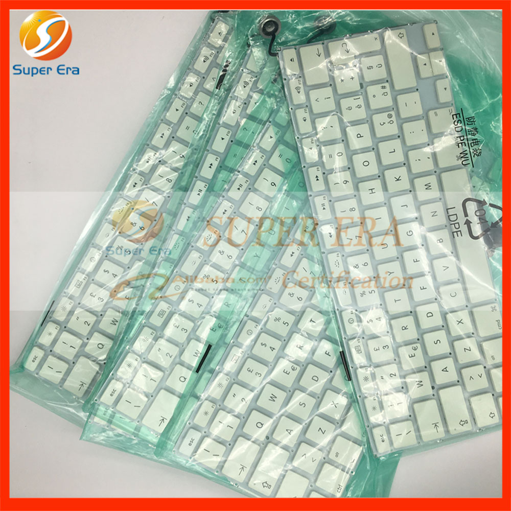 5pcs/lot perfect Italian IT Italy keyboard for macbook 13.3'' A1342 late2009 mid2010year laptop keyboard for acer silver without frame italian it v 121646ck2 it aezqsi00110
