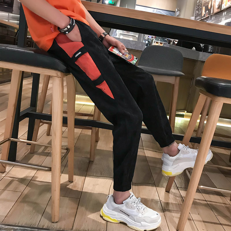 2018 New Man Korean Leisure Fashion City boy 9 Part Pants for men Will All match Ankle Banded hip hop streetwear Free shipping