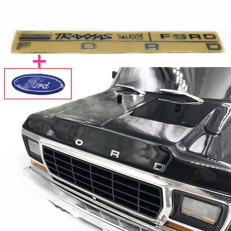RC <font><b>Car</b></font> Part FORD Metal Emblem Head <font><b>Logo</b></font> For 1/10 TRAXXAS TRX-4 TRX4 Ford bronco Body Luxury Look Decorative Accessories image