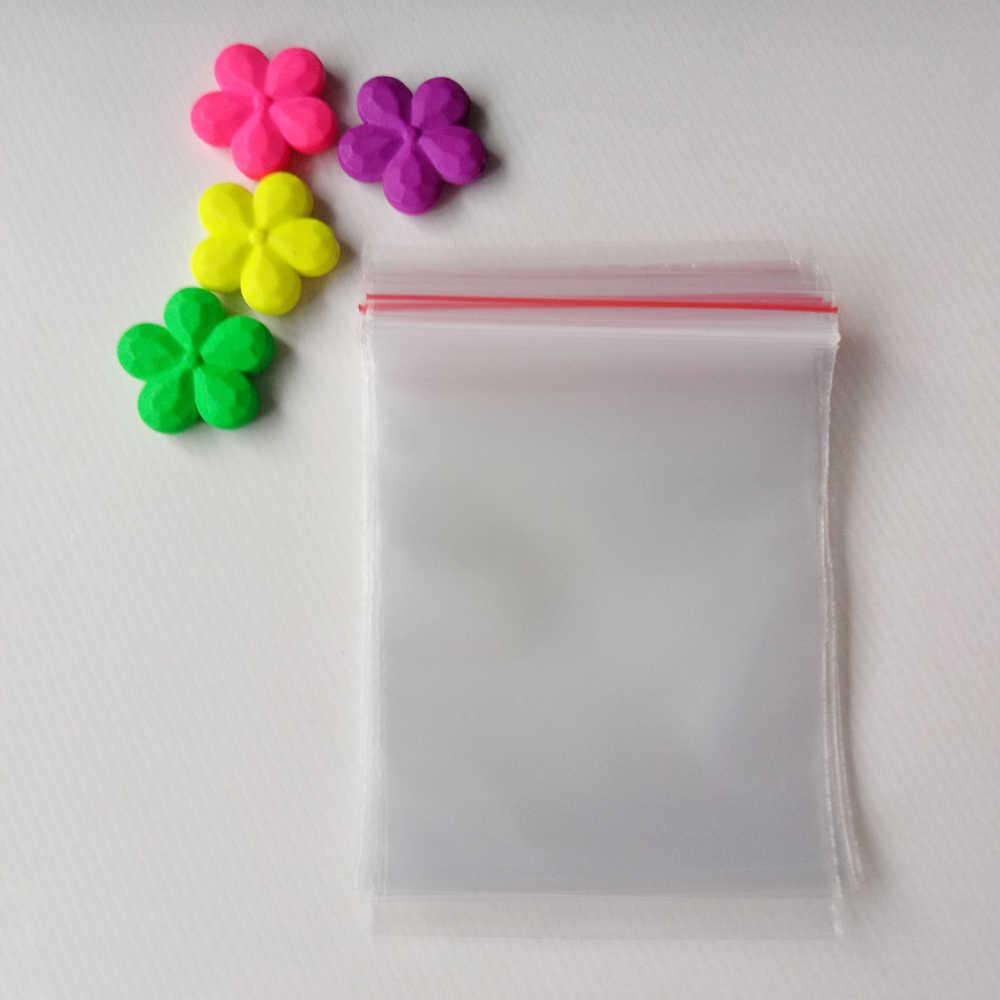 500 pcs 13x19 cm zip lock saco de plástico com zíper de plástico pe sacos transparentes para as mulheres/presente exposição de embalagem de jóias bolsa de armazenamento
