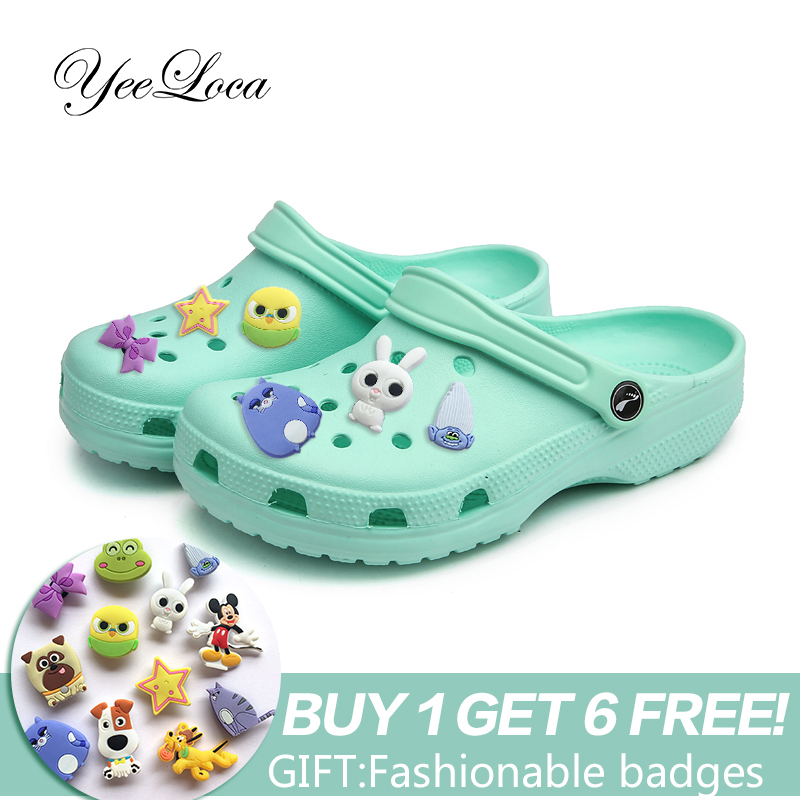 Sandals Slippers Flats Clogs Garden-Shoes Mules Candy-Colors Outdoor Unisex Fashion Beach