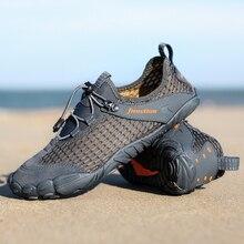 Мужская дышащая Спортивная обувь унисекс с сеткой; женские пляжные кроссовки; нескользящая обувь для альпинизма и пешего туризма