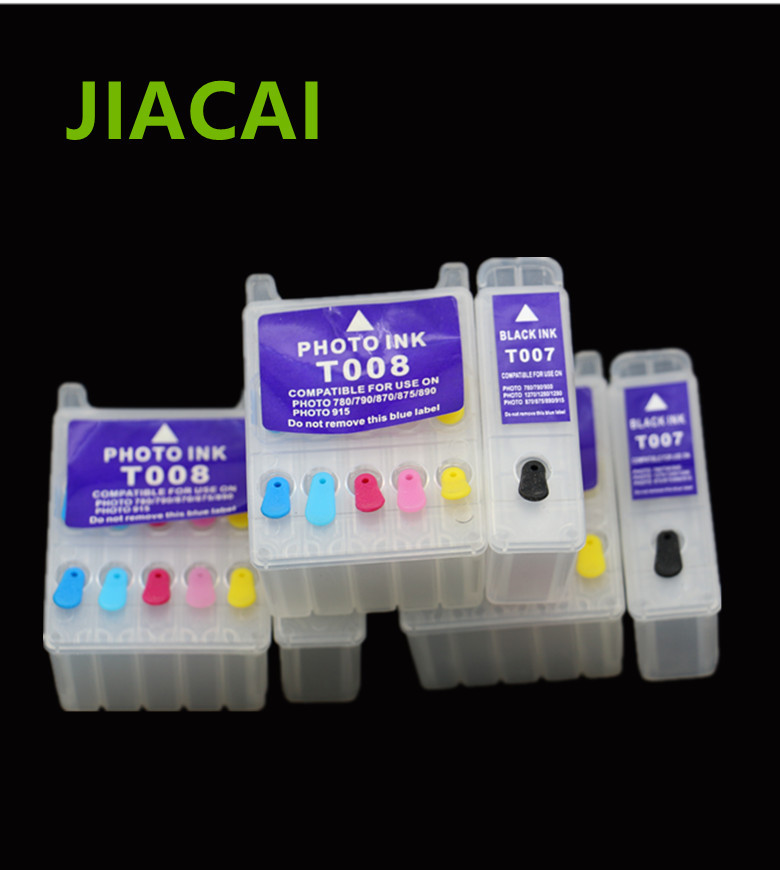 T007 T008 Refillable Ink Cartridge For Epson Stylus Photo 780/785/785EPX/790/870/875/890/895/900/915 Printer