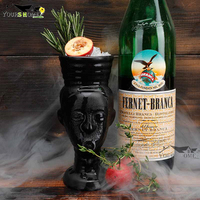 280ml Hawaii Tiki Mugs Cocktail Cup Beer Beverage Mug Wine Mug Ceramic Easter Islander Tiki Mug