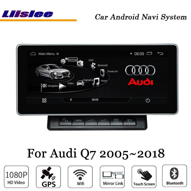 Liislee 10,25 дюймов автомобиля Android мультимедиа для Audi Q7 Blu Ray с антибликовым покрытием стерео Carplay gps Navi карта навигации оригинальный Системы