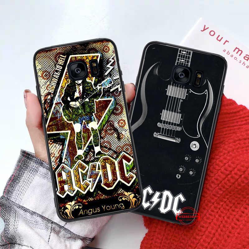 С принтом музыкальной группы ACDC силиконовый чехол для samsung S6 край S7 S8 плюс S9 S10 S10e M10 M20 M30 M40