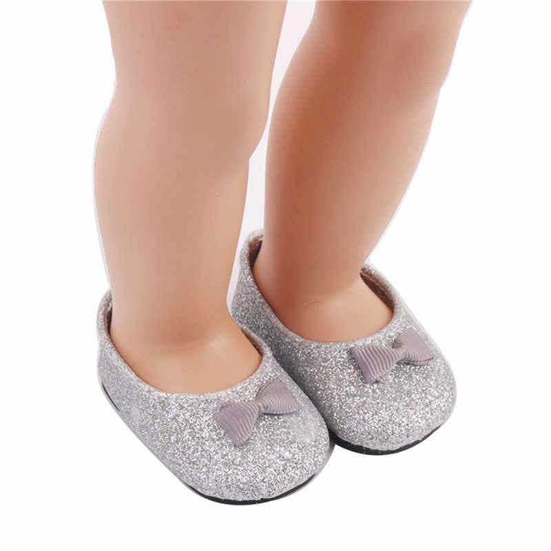 ... Baby Doll Cool Fashion Doll Shoes Bowknot Dress Shoe For 18 Inch Our  Generation American Doll e53c56cd595e