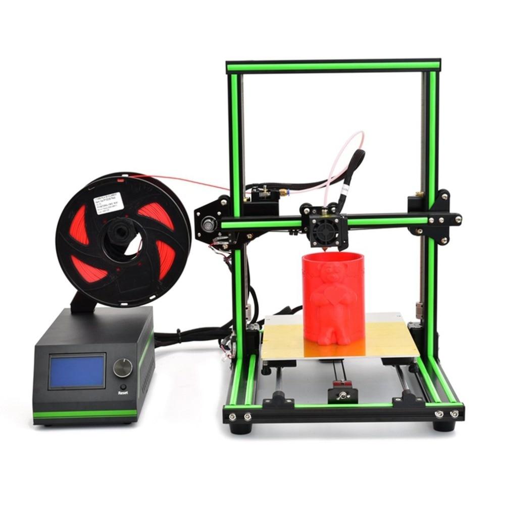 E10 Desktop 3D Printer Aluminum Frame High Precision Reprap 3D Printer DIY Kit Off-line Printing Free 10m Filament US цена