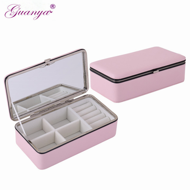 Guanya Jewelry Organizer Gift Box Necklace Earring Holder Packaging