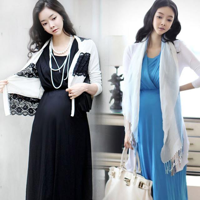 Vestidos de maternidade 2016 verão de algodão amamentação vestido para as mulheres grávidas moda longa seção de roupas de enfermagem gravidez
