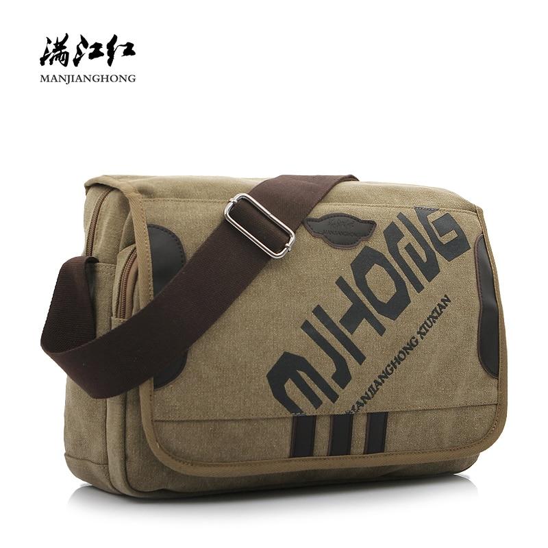 Messenger-Bag Crossbody-Bags Canvas Satchel Male Fashion Letter Men for Leisure 1142